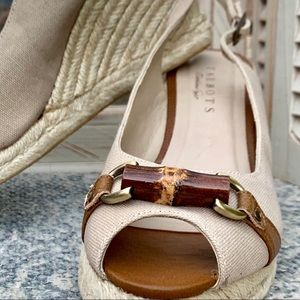 Talbots Sweetie Espadrille Wedge Tan Sandals
